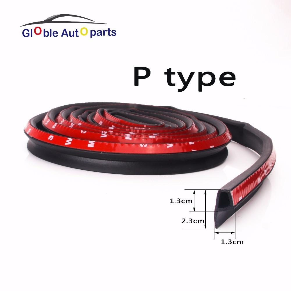 New 2 3 4 5 Meter P type 3M Adhesive Car Door Seal For Bmw Benz Audi Kia Noise Sound Insulation Rubber Strips Waterproof MFT