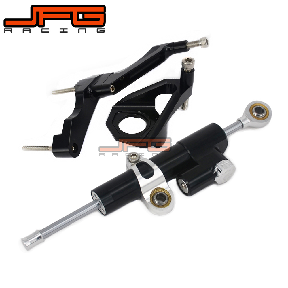CNC Steering Damper Stabilizer Linear Reversed Safety Control & Adapter Bracket For GSXR600 GSX600R GSXR750 GSX750R 2004 2005 cnc steering damper stabilizer linear reversed safety control & adapter bracket for honda cb400 cb 400 vtec 1999 2000 2001 2012