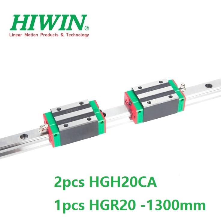 1pcs 100% original Hiwin linear rail guide HGR20 -L 1300mm + 2pcs HGH20CA linear narrow block for cnc router 1pcs hiwin hgr20 linear guide rail 2000 mm 2pcs hgh20ca for custom length cnc kit