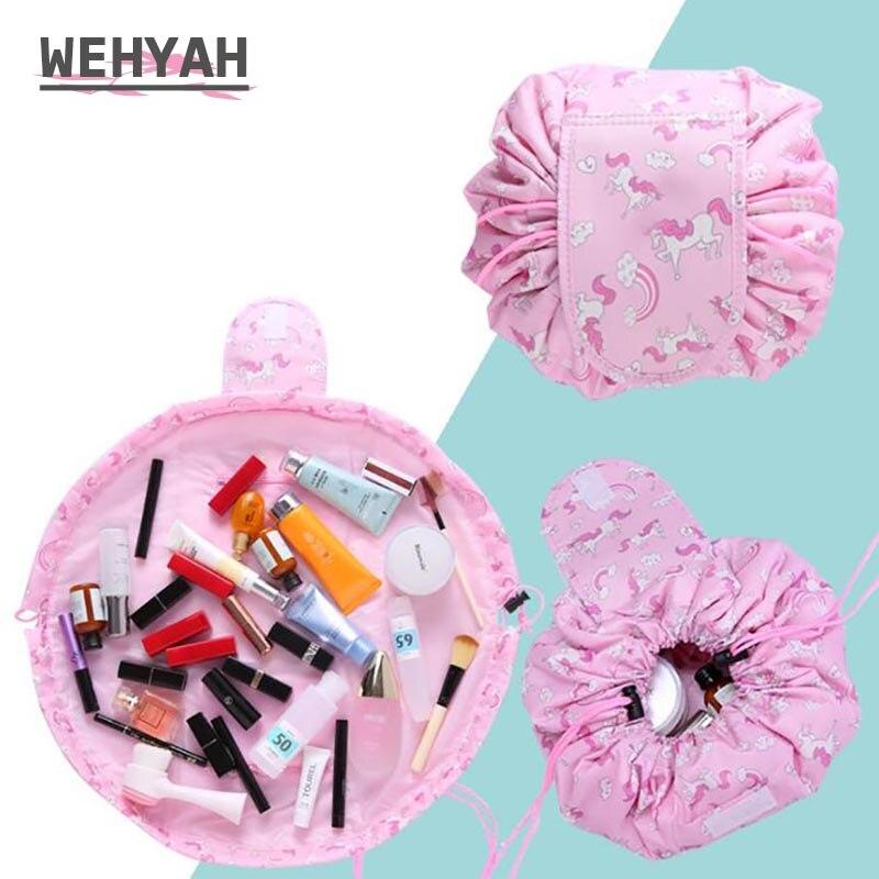 Wehyah Travel Packing Organizers Travel Magic Pouch Drawstring Bag Wash Storage Cosmetic Bag Toiletries Storage Bag ZY116