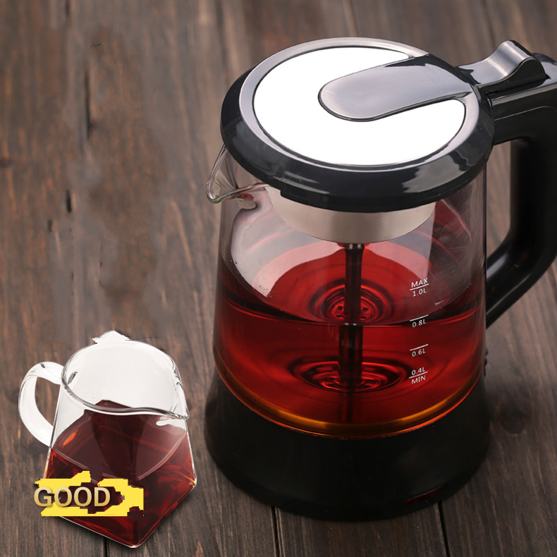 Electric kettle teapot automatic glass electric hot steam cooking tea pot black brewing Overheat Protection electric kettle automatic glass cooking pot steaming curing electric heating steam tea black tea boiled overheat protection