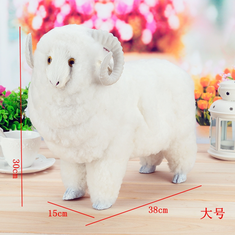 big simulation sheep toy polyethylene & furs creative sheep model gift about 38x15x30cm 2246 creative simulation plush soft fox naruto toy polyethylene