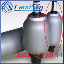 Good quality hydraulic accumulator horizontal nitrogen bladder NXQ-0.4/20-L volume 0.4L pressure 200bar
