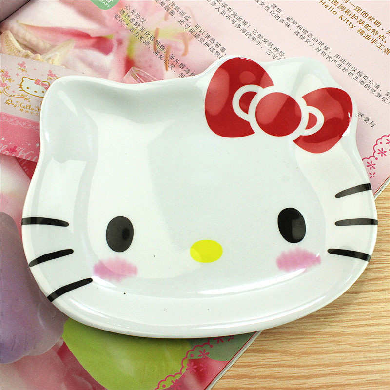 Keythemelife-Cute-Appetizers-Dish-Hello-Kitty-Frog-Star-Shape-Cat-Plate-Dog-Bowl-Cake-Display-Dish (1) -