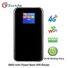 TianJie 4G נתב 8800mAh סוללה כוח בנק 150 הנקודה החמה ניידת רכב Wi fi נתב 4G/LTE/ה sim כרטיס מודם נייד בפס רחב