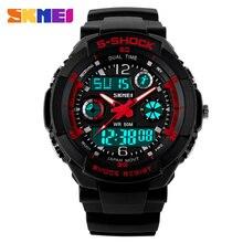 Nueva S-shock Marca hombres Deportes Relojes Moda Casual Reloj de Cuarzo Reloj Militar Analógica Digit LED Reloj Montre Homme Skmei