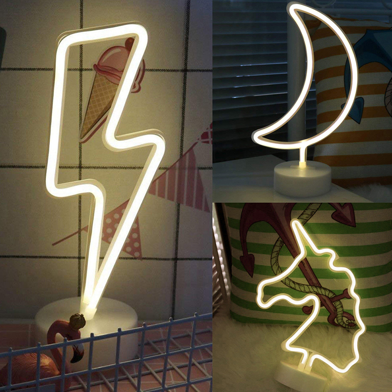 Moon Led Neon Sign Light Holiday Xmas Party Wedding Decorations Kids Room Night Lamp Home Wall Decor hot sale