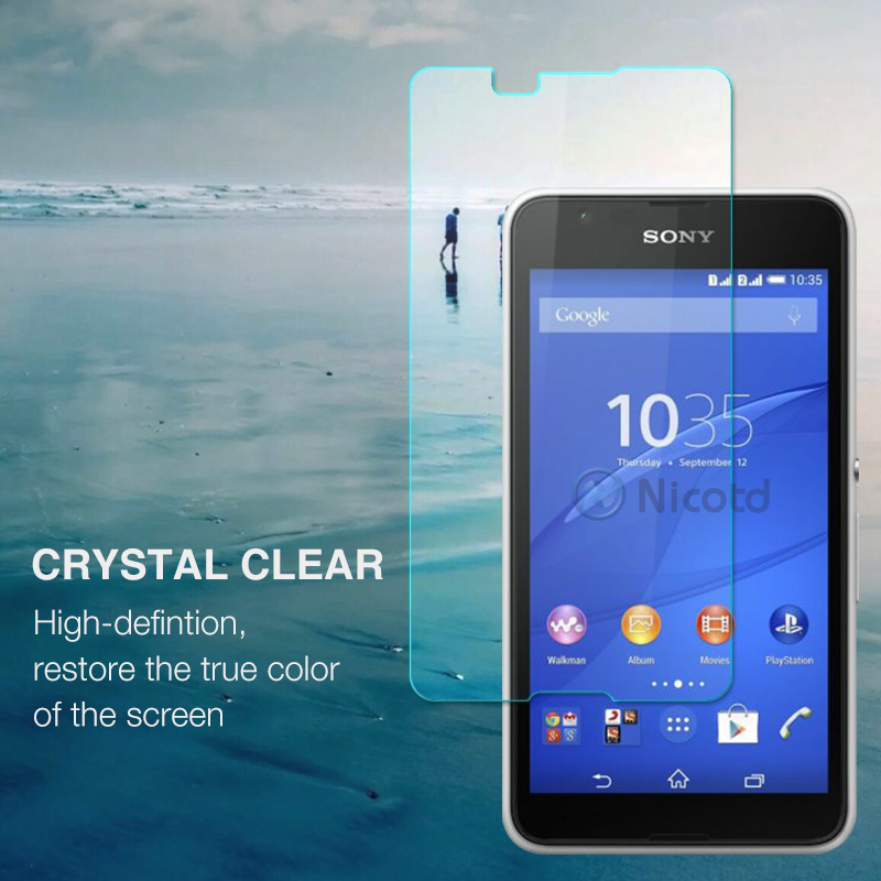 0.26MM 9H Screen Protector Explosion-Proof On Phone Tempered Glass Film For Sony Xperia E4 E2105 E2114 E2115 E2124 dual 5.0 inch (1)