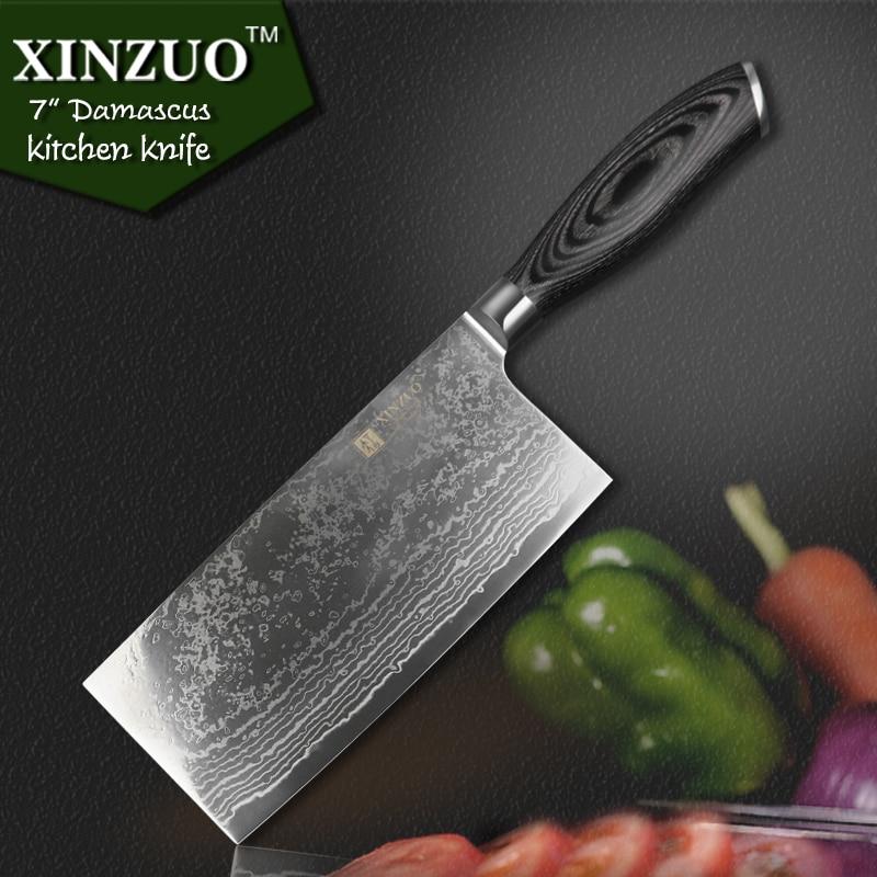 XINZUO 7 5 inch Japanese VG10 Damascus kitchen font b knife b font chef font b