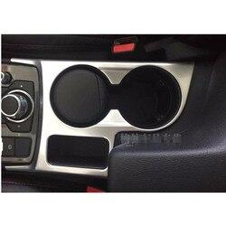 Dla mazdy CX-5 2015 stylizacja samochodu chromowana ramka trzymająca kubek z wodą pokrywa wykończenia pokrowce samochodowe