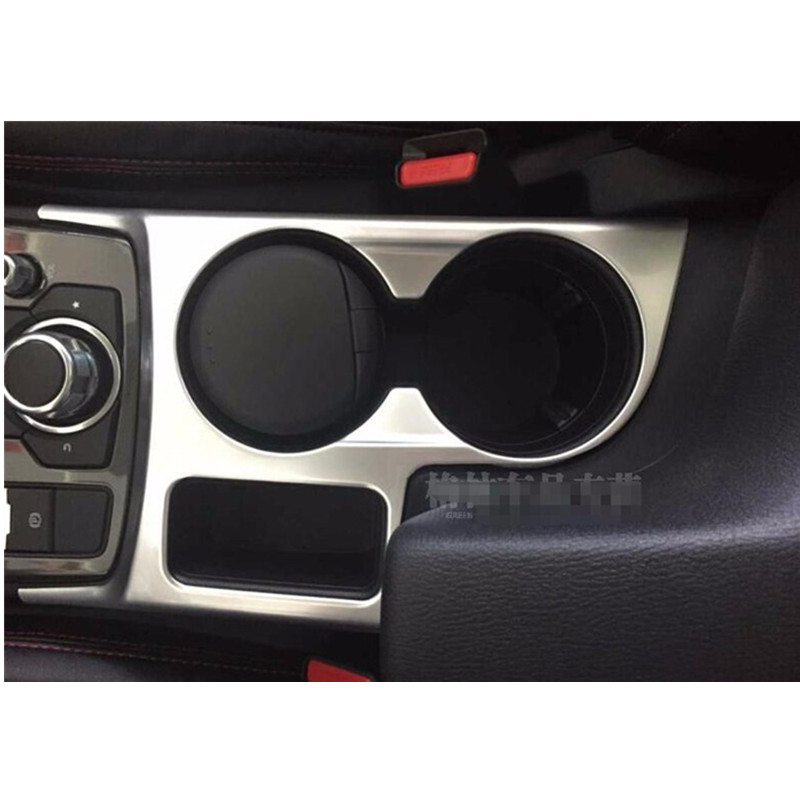 For Mazda CX 5 2015 Car styling Chrome Water Cup Holder Frame Cover Trims  Car covers|Chromium Styling|   - title=