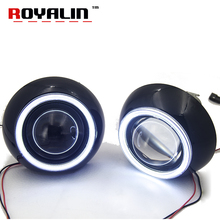 ROYALIN 3.0 Metal Xenon Lens for Iris Shroud w/ LED COB Angel eyes Demon Eyes LHD RHD BI-Xenon HID Projetor Car Styling H4 H7 H1