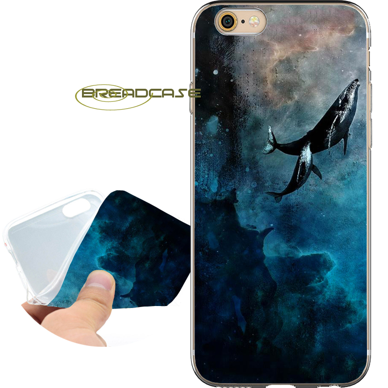 Fundas Flying Whales Capa Soft Clear TPU Silicone Phone Cases for iPhone X 8 7 6S 6 Plus 5S SE 5 5C 4S Case iPod Touch 6 5 Cover