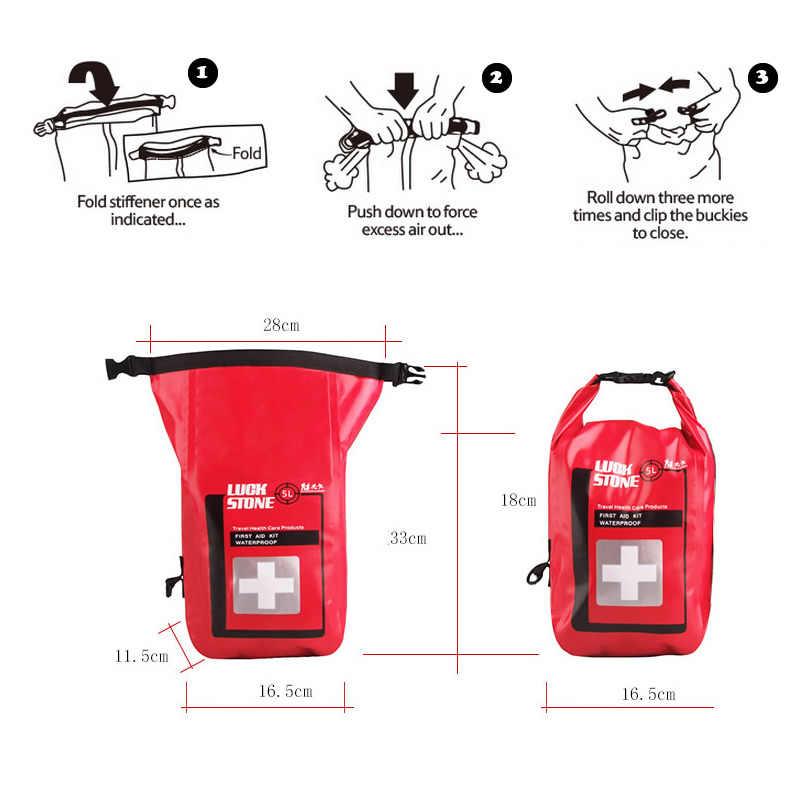 Новый Портативный 5L Водонепроницаемый первой помощи сумка с плечевым ремнем на открытом воздухе спасательное Наборы для приготовления пищи на воздухе походы в горы для рыбалки