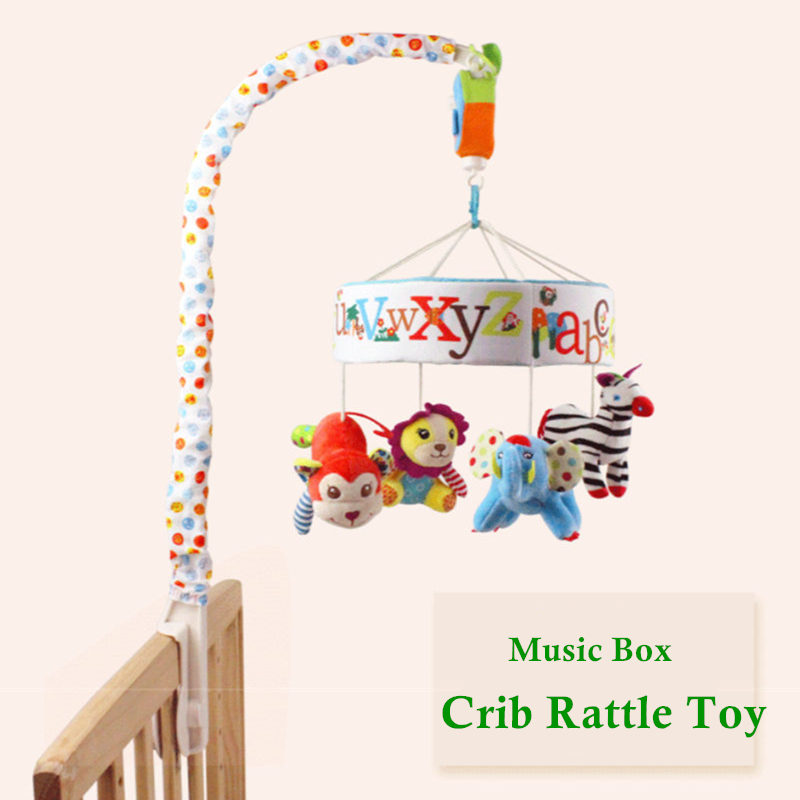 Infant Baby Toys 0-12 Months Soft Mobile Bed Bell Crib Toys For Babies Rotating Music Hanging Rattles Musical Educational Toys