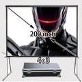 Профессиональный Производитель HD Проектор Проекционный Экран 200 дюймов 4:3 Быстрый Складной 1080 P Экраны С Портативный Алюминиевый Корпус