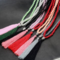 Granos de Cristal Collar Collares Declaración de bohemia Boho Joyería Collier Colar Maxi Joyeria Larga Borla Buddha Encanto Hecho A Mano
