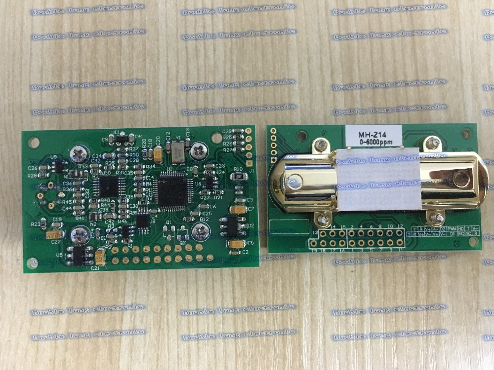 Cost effective infrared carbon dioxide sensor module promotional MH Z14 infrared Co2 sensor for Co2 monitor (0 5000PPM)