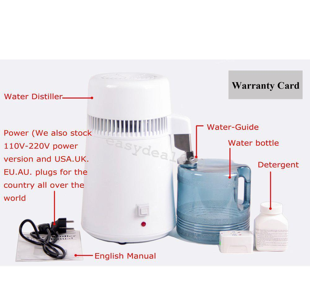 Stainless 304 4L Stainless Steel Pure Water Distiller Filter Water - Perkakas rumah - Foto 5
