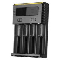 NITECORE NEW I4 Charger Smart Intellicharger batteries Charger for Li ion/IMR Nicd 16340 10440 AAA 14500 18650 26650 batteries