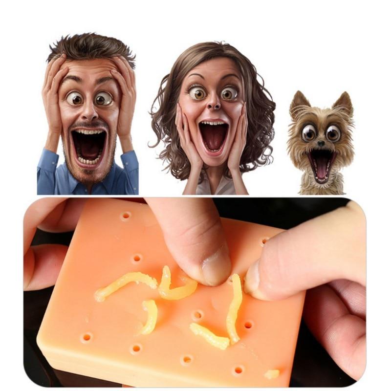 2018 melocotón Pimple Popper divertido removedor dejar de recoger novedad Squeeze acné juguete interesante estrés Reliever Juguetes