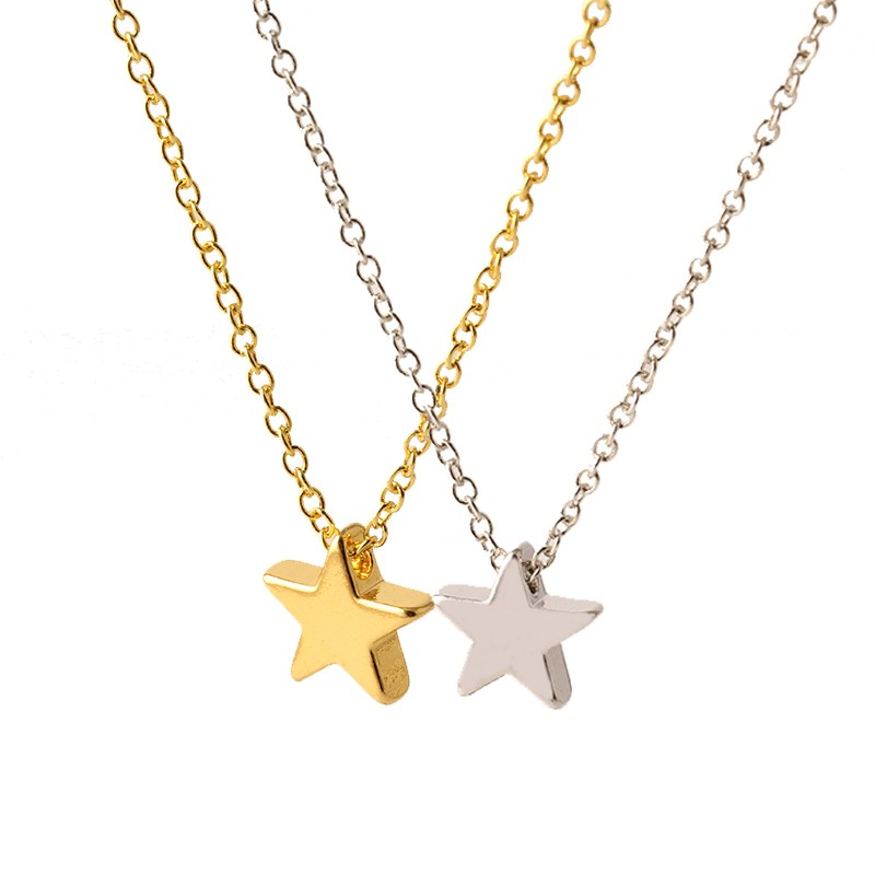 New Fashion Star Collar Necklace Pendant Small Charms Golden Silver Statement Chain Necklaces Women Jewelry Hot Sale Choker N538
