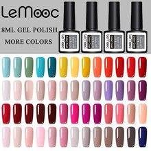 LEMOOC 8ml Gel Nail Polish Semi Permanent Gel Varnish Pure Gel Nail Polish For Nails Art Manicure Gellak Top Coat Primer Hybrid