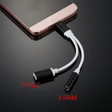 Type-c Music Audio Charging Cable USB Type C Male to 3.5 Jack Earphone  Type-c Audio Adapter For Xiaomi Mi6 Letv Le 2 Pro Max 2