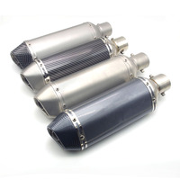 51mm Inlet Universal motorcycle exhaust Pipe scape moto with DB killer Inside FOR Suzuki gsxr 1000 k7 honda cr 250 honda nc 700