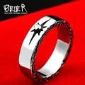 Beier nueva tienda goro's anillo de la cola anillo de acero inoxidable 316l de alta calidad para hombres joyería de moda br8-375