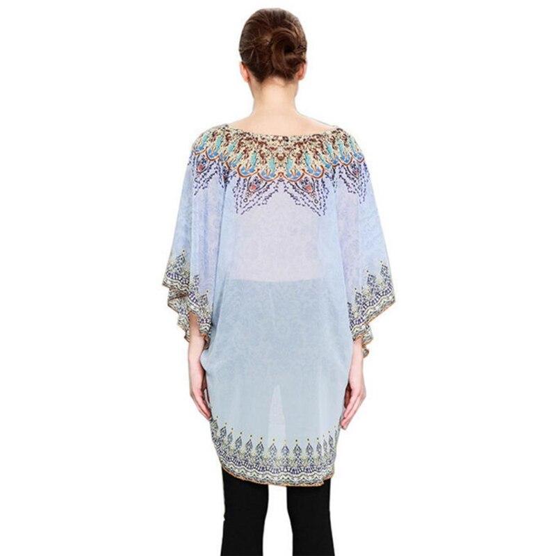 c12f3801ac80 Islamic blouse Sexy Muslim women loose long shirts dress national printed  dubai arab malay summer fashion batwing sleeve top-in Islamic Clothing from  ...