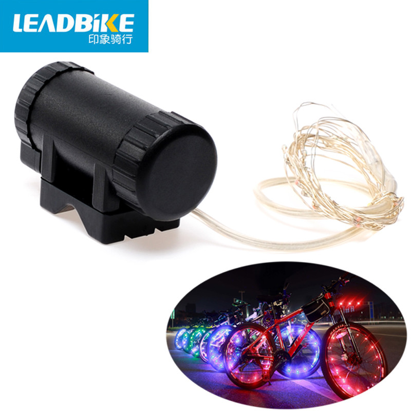Leadbike Bicycle Wheel Light Waterproof Bike Light Length 2m 20 Led Colorful Safety Lamp For Night Cycling Spoke Accessories
