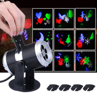 12 Films LED Snowflake Projection Lamp Halloween Christmas Film Projection Light Pattern Decoration Lamp Holiday Lighting