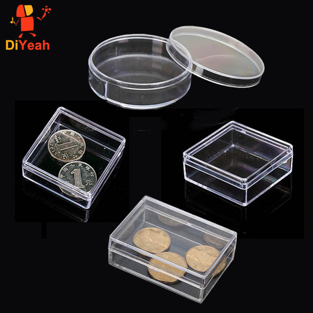 Face Painting Empty Box PS Body Paint Plastic Box Square Rectangular Round  Transparent Product Box Case with Lid DIY Rainbow Kit
