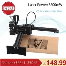 NEJE Master 3500 мВт 405 нм Настольный лазерный гравер с ЧПУ портативный DIY гравировальный станок для резьбы лазерная резка, гравировальный станок