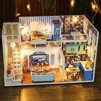 Cutebee Mobili Casa di Bambola In Miniatura Casa Delle Bambole In Miniatura FAI DA TE Casa in Camera Box Theatre Giocattoli per I Bambini di Casa De Boneca J19