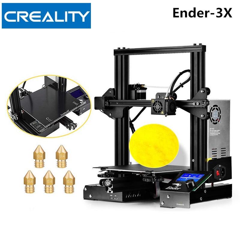 Creality3D Ender-3X/Ender-3 v-slot Prusa I3 bricolage 3D imprimante Kit 220x220x250mm MK10 extrudeuse 1.75mm 0.4mm buse imprimante 3D