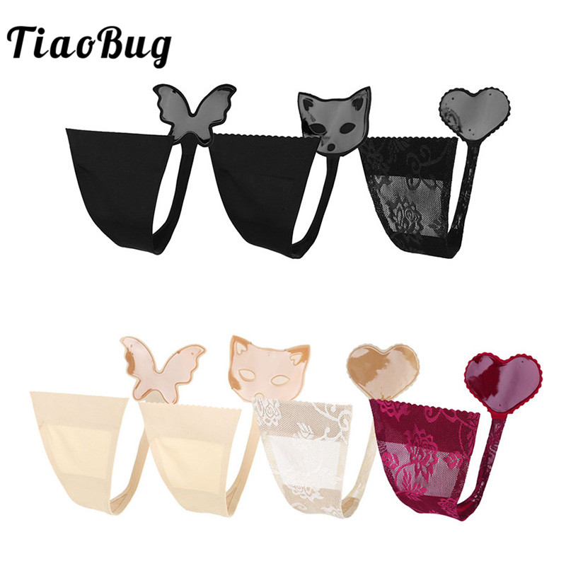 Women Hot New Design Women Lingerie Sexy C String Flower Lace Invisible   Panties   Self Adhesive Strapless Thong Female Underwear