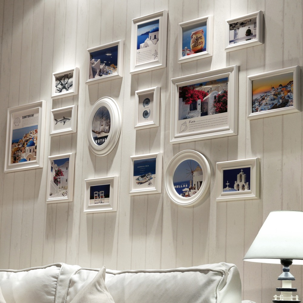 White 16 pcs Wooden Picture Frame,Collage Photo Frame Wall,Photo Frames for Picture,Port ...