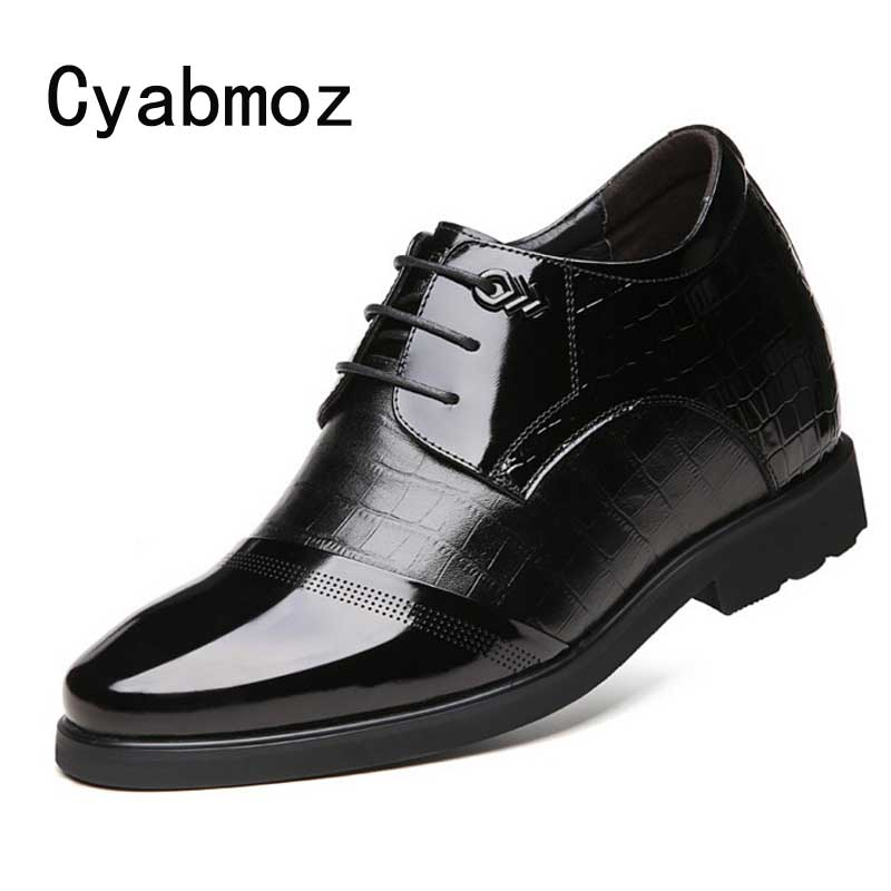 Dress Men Height Increase Elevator Shoes Get Taller 6/8/10/12cm Invisibly for Party Wedding Daily Business Genuine Leather Shoes free shipping brand new replacement lamp with housing elplp50 for eb 824 eb 825 eb 826w eb 84 eb 85 projector 3pcs lot