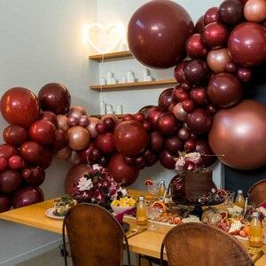 Image 4 - 50 ชิ้น/ถุง 5/10/12 นิ้ว Burgundy Pearl Latex Helium บอลลูนสีแดงพรรค Globos ทารกอาบน้ำเจ้าสาวงานแต่งงานวันเกิดตกแต่ง