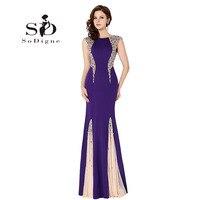 Вечернее платье 2018 SoDigne со стразами Scoop Кепки рукавом Праздничное платье Longo Элегантное Длинное вечерние платье