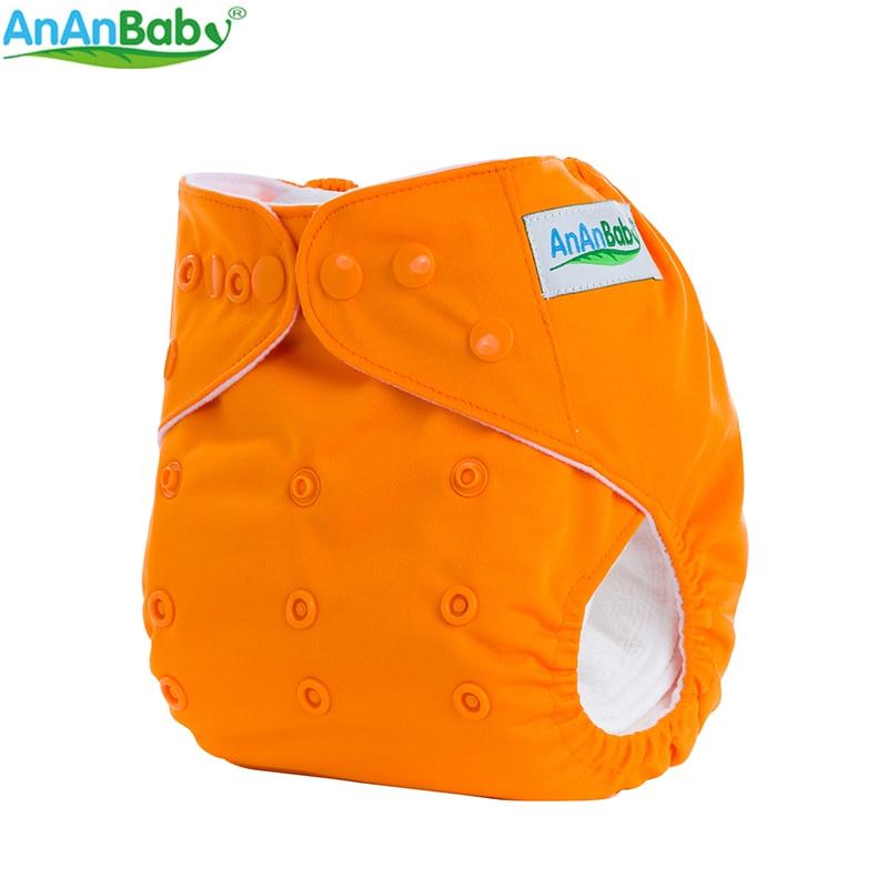 AnAnBaby Todo en un tamaño Nuevo Diseño 1 PCS Pañales de tela de - Pañales y entrenamiento para ir al baño - foto 6
