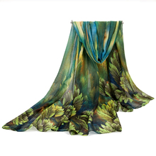 Autumn and Winter newest design 2014 fashion women's long scarf leaves print viole scarves ladies stoles soft warm shawls