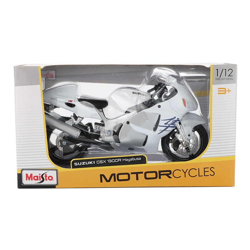 Maisto 1:12 Alloy Sepeda Motor Model Mainan Mobil Balap Motor GSX 1300R Hayabusa Model Mobil Koleksi Mainan Pendidikan untuk Anak Laki-laki