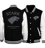 New 2017 Spring Hot Sale Game Of Thrones Winter Is Coming Men Jacket Baseball Clothing Jackets