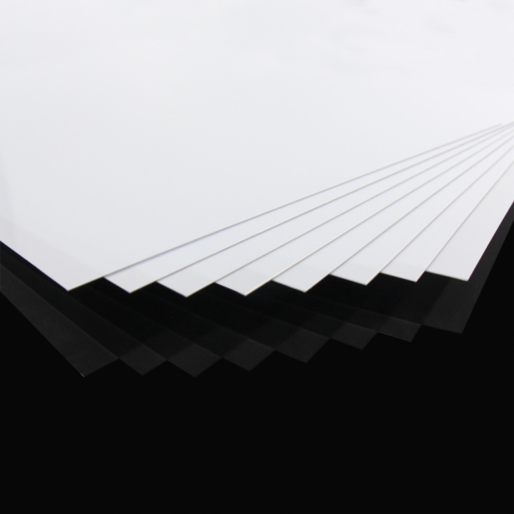 Image 4 - ABS0905 8pcs 0.5mm Thickness 200mm x 250mm ABS Styrene Sheets White NEW ArchitecturalModel Building Kits   -