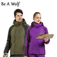 Be A Wolf Hiking Jacket Women Men Sport Outdoor Camping Skiing Hunting Clothes Fishing Winter Jacket