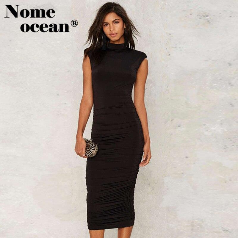 Black shoulder pad dress