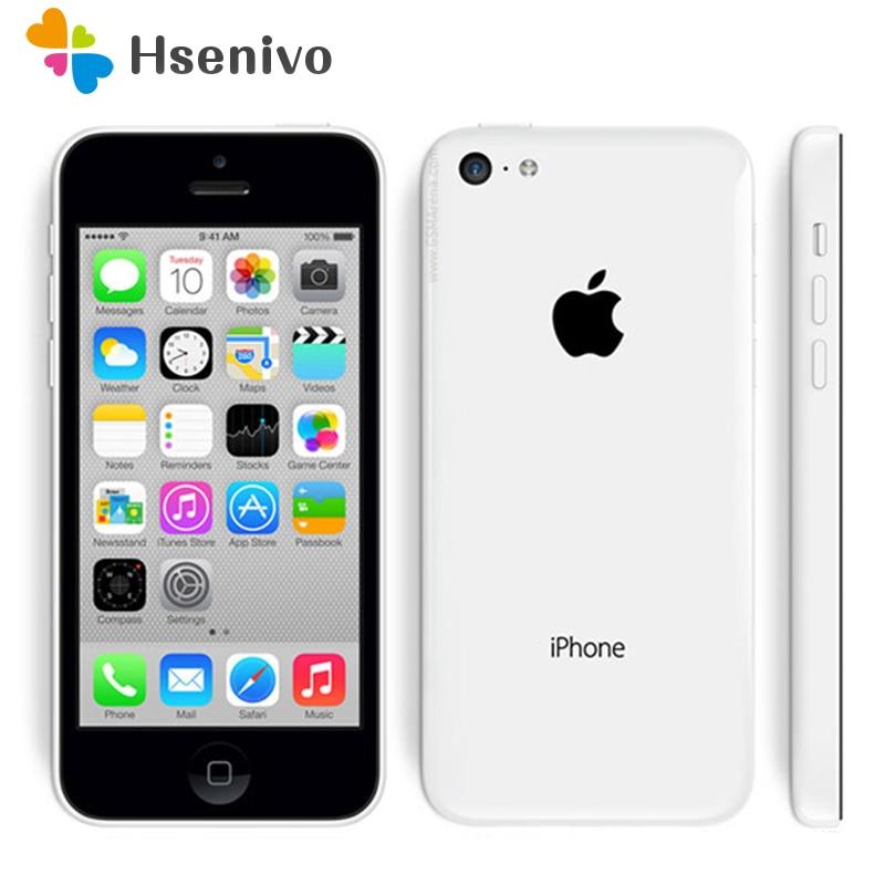 Unlocked Original Apple Iphone 5C Cellphone 4.0'Dual Core 8MP Camera IOS WIFI GPS Used Mobile Phone Multi-language Refurbished
